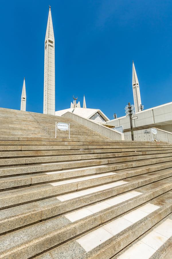 Μουσουλμανικό τέμενος Faisal Shah στο Ισλαμαμπάντ, Πακιστάν στοκ εικόνες με δικαίωμα ελεύθερης χρήσης