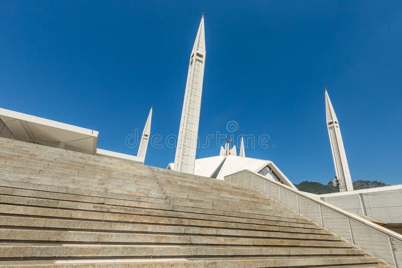 Μουσουλμανικό τέμενος Faisal Shah στο Ισλαμαμπάντ, Πακιστάν στοκ φωτογραφία