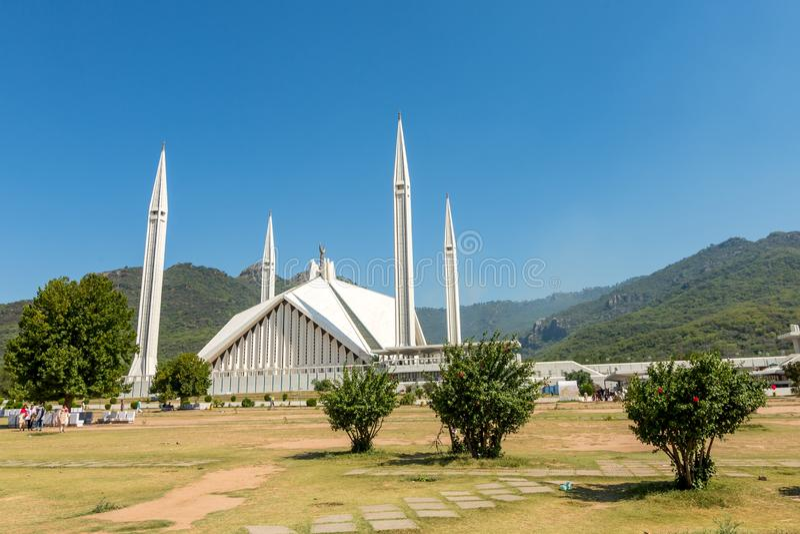 Μουσουλμανικό τέμενος Faisal Shah στο Ισλαμαμπάντ, Πακιστάν στοκ εικόνα με δικαίωμα ελεύθερης χρήσης