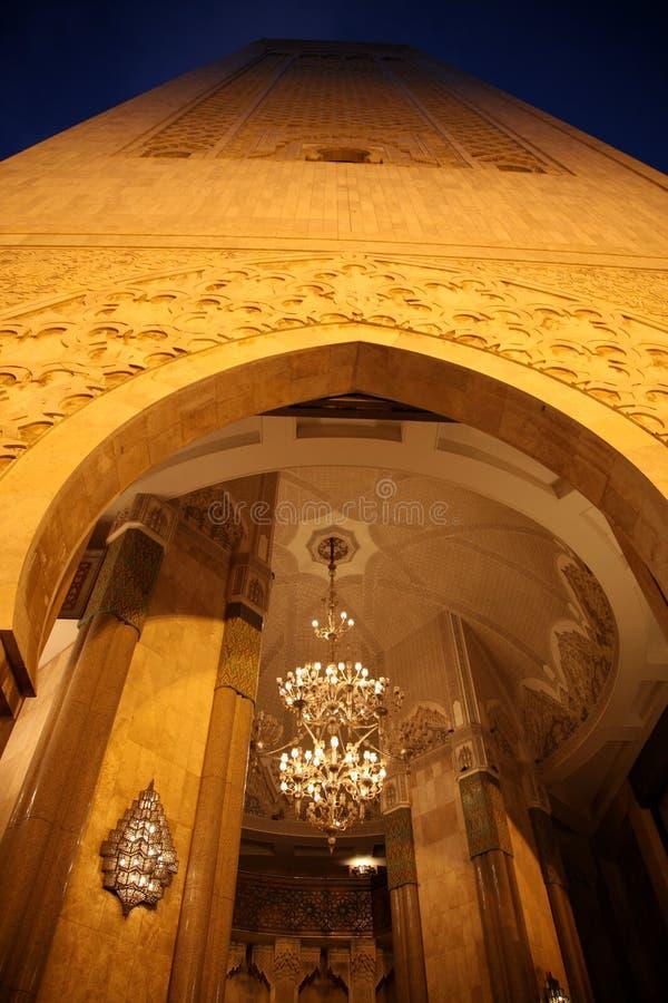 Μουσουλμανικό τέμενος Hassan ΙΙ στοκ εικόνες