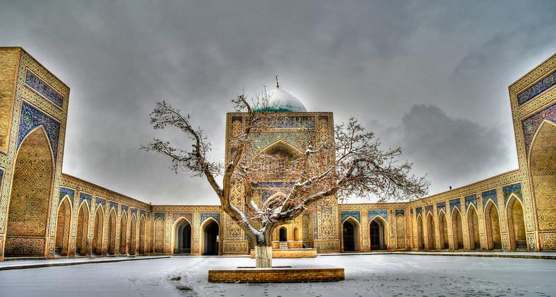 Μουσουλμανικό τέμενος Kalyan και po-ι-Kalyan σύνθετα, Μπουχάρα, Ουζμπεκιστάν στοκ εικόνες