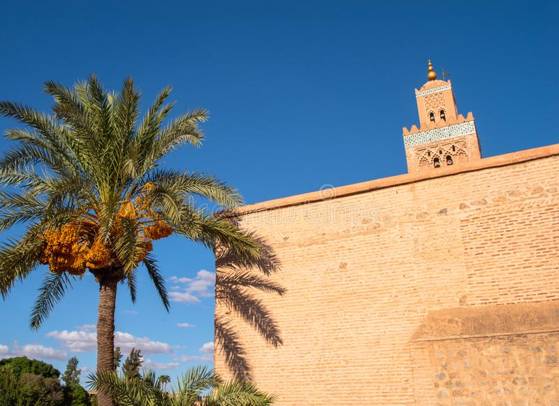 Μουσουλμανικό τέμενος Koutoubia στο Μαρακές στοκ φωτογραφίες με δικαίωμα ελεύθερης χρήσης