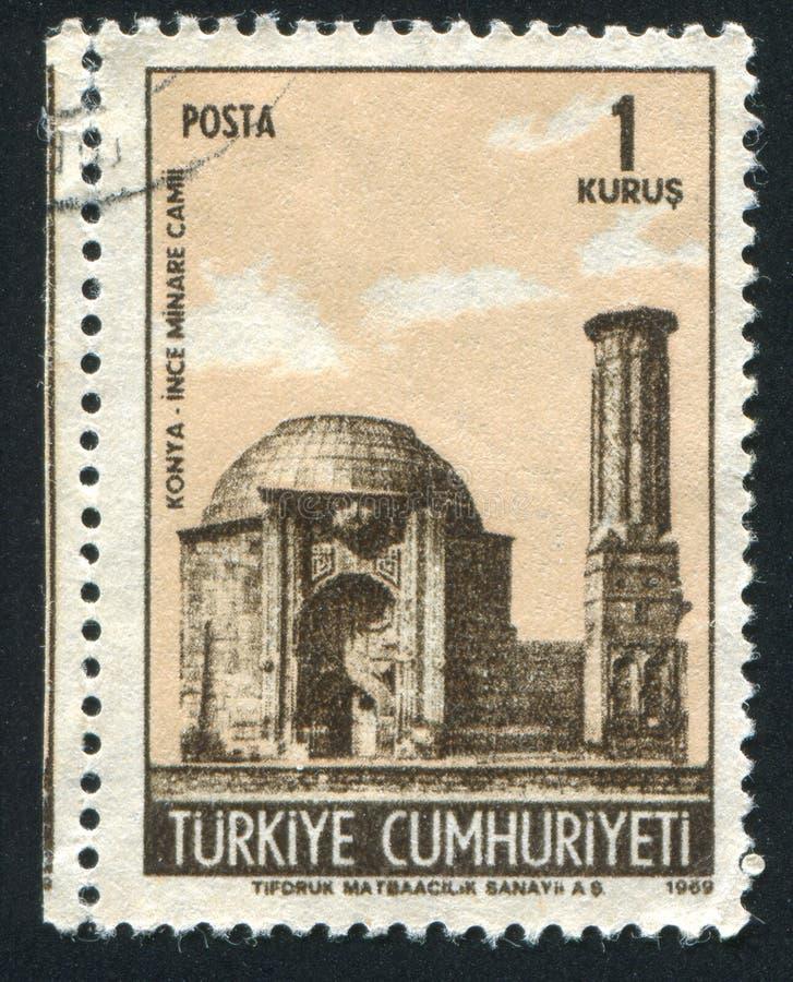 Μουσουλμανικό τέμενος Minare στοκ εικόνα με δικαίωμα ελεύθερης χρήσης