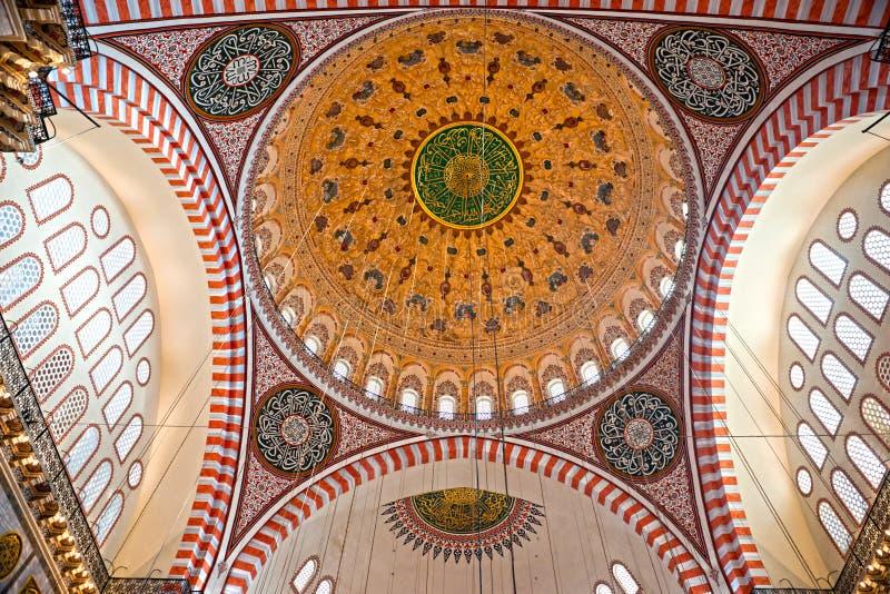 Μουσουλμανικό τέμενος Süleymaniye, Κωνσταντινούπολη, Τουρκία. στοκ φωτογραφίες με δικαίωμα ελεύθερης χρήσης