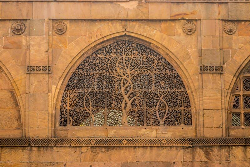 Μουσουλμανικό τέμενος Saiyyed Sidi στοκ εικόνες με δικαίωμα ελεύθερης χρήσης
