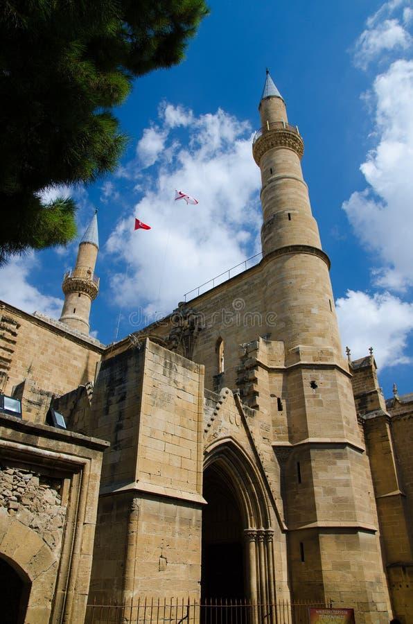 Μουσουλμανικό τέμενος Selimiye, καθεδρικός ναός του ST Sophia, Λευκωσία, Lefcosa, Κύπρος στοκ εικόνες με δικαίωμα ελεύθερης χρήσης