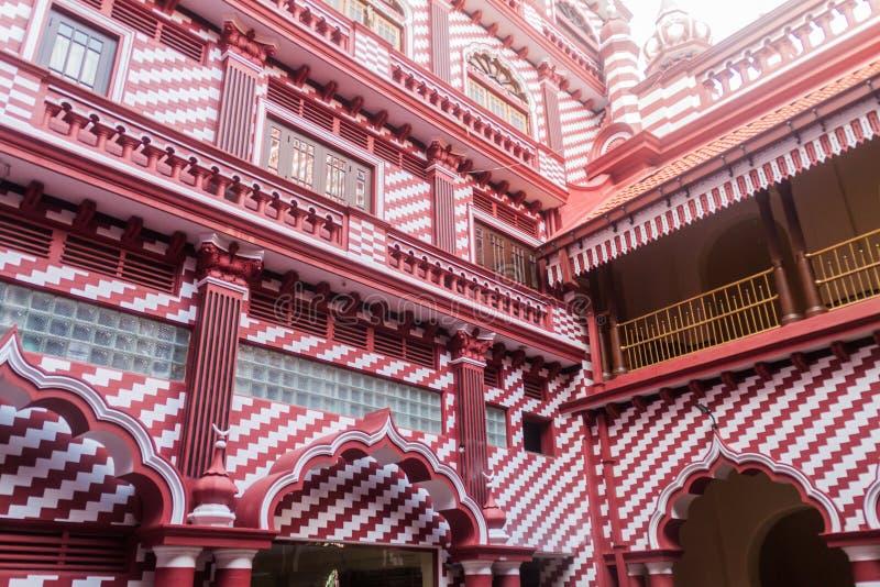 Μουσουλμανικό τέμενος ul-Alfar Jami σε Colombo, τοπικό LAN Sri στοκ εικόνα