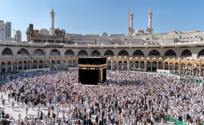 Μουσουλμάνοι σύλλεξαν στη Μέκκα των παγκόσμιων ` s διαφορετικών χωρών στοκ εικόνες