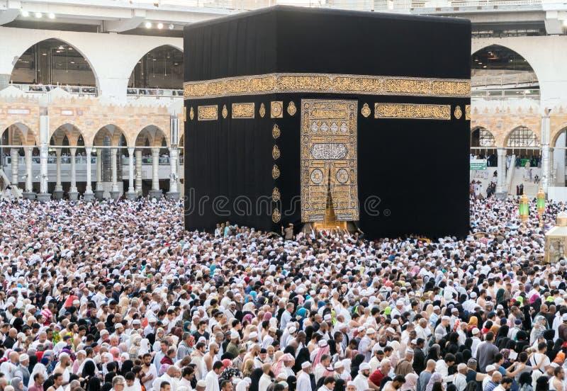 Μουσουλμάνοι σύλλεξαν στη Μέκκα των παγκόσμιων ` s διαφορετικών χωρών στοκ φωτογραφία με δικαίωμα ελεύθερης χρήσης