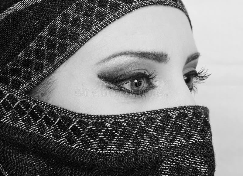 Μουσουλμανικά μάτια κοριτσιών στοκ φωτογραφίες με δικαίωμα ελεύθερης χρήσης