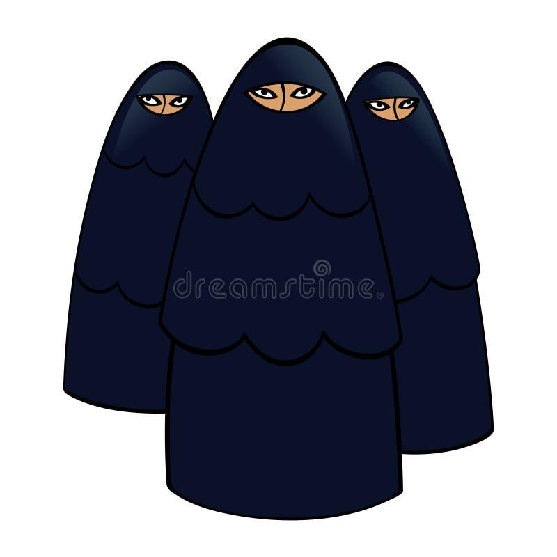 Μουσουλμανικές γυναίκες απεικόνιση αποθεμάτων