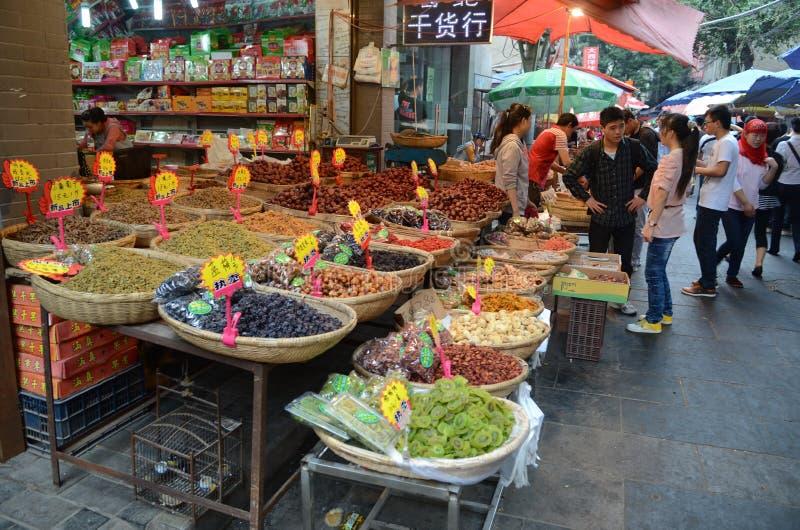 Μουσουλμανική αγορά σε Xian, Κίνα στοκ εικόνες με δικαίωμα ελεύθερης χρήσης