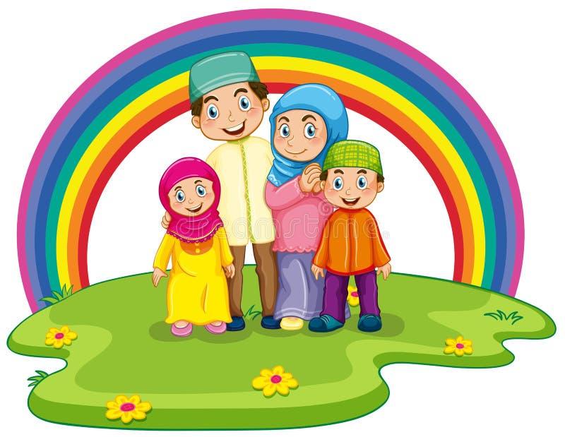 Μουσουλμανική οικογένεια απεικόνιση αποθεμάτων