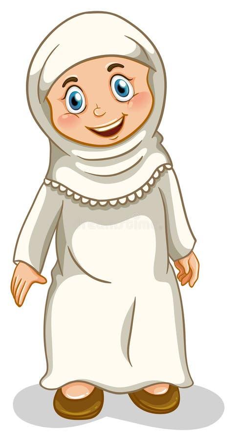 Μουσουλμανικό κορίτσι διανυσματική απεικόνιση