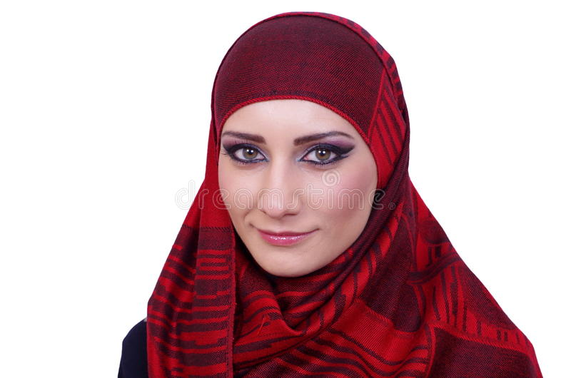 Μουσουλμανικό πορτρέτο κοριτσιών στοκ εικόνες