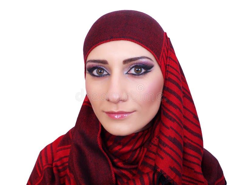 Μουσουλμανικό πορτρέτο κοριτσιών στοκ εικόνα