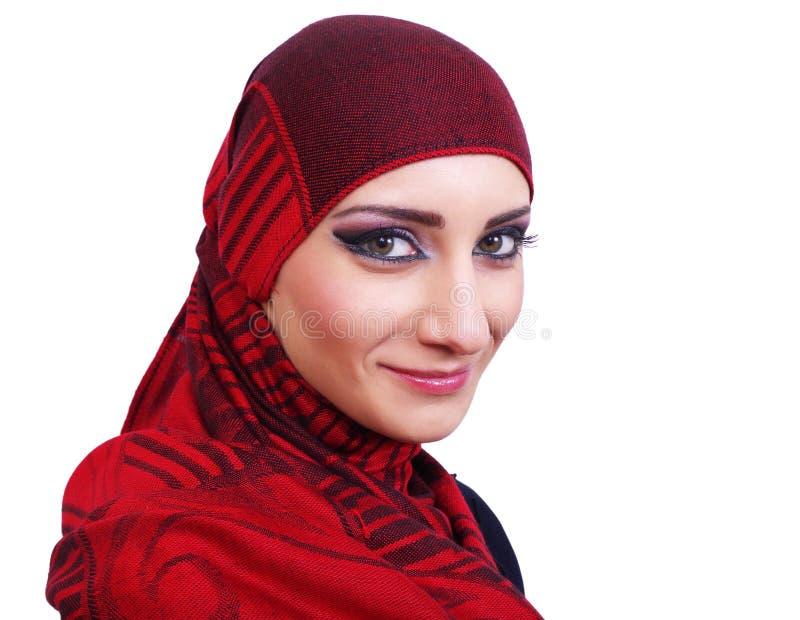 Μουσουλμανικό πορτρέτο κοριτσιών στοκ φωτογραφία