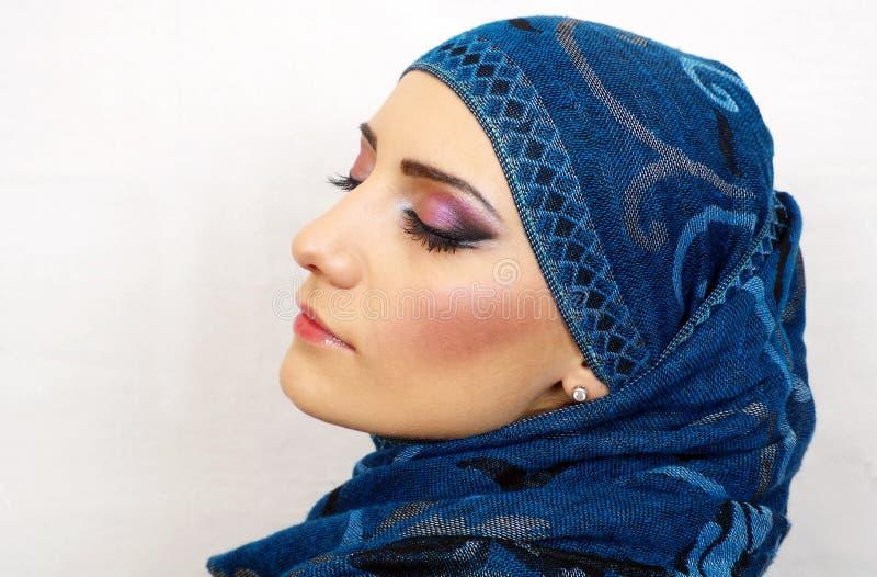 Μουσουλμανικό πορτρέτο κοριτσιών στοκ φωτογραφίες
