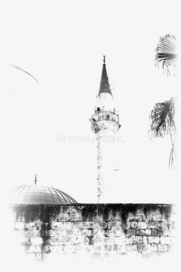 Μουσουλμανικό τέμενος και μιναρές στο στρέμμα στοκ φωτογραφίες με δικαίωμα ελεύθερης χρήσης