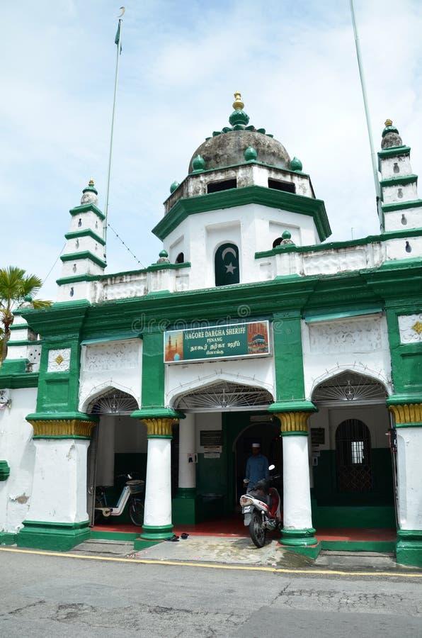 Μουσουλμανικό τέμενος σερίφηδων Durgha Nagore που βρίσκεται στη διατομή του βασιλιά στοκ εικόνα