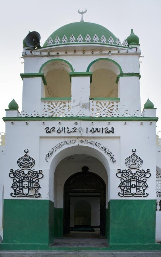 Μουσουλμανικό τέμενος στην πόλη Lamu στοκ εικόνες