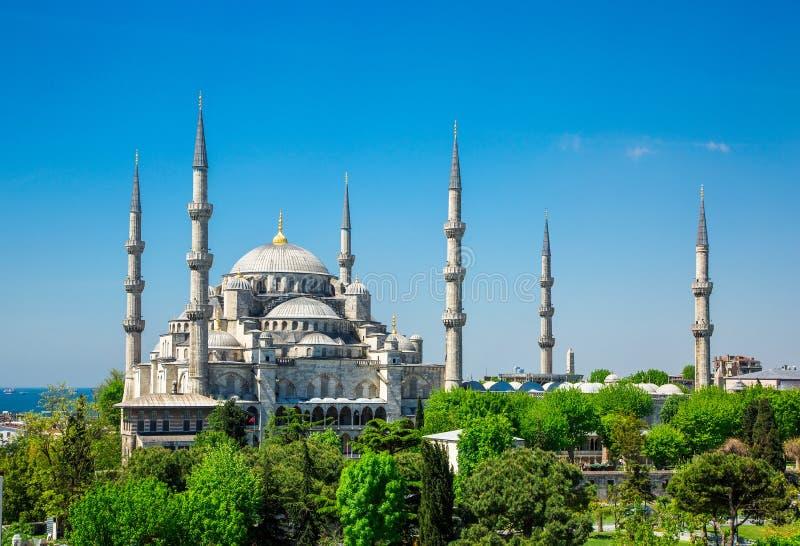 Μουσουλμανικό τέμενος του Ahmed σουλτάνων (μπλε μουσουλμανικό τέμενος) στη Ιστανμπούλ στοκ εικόνες