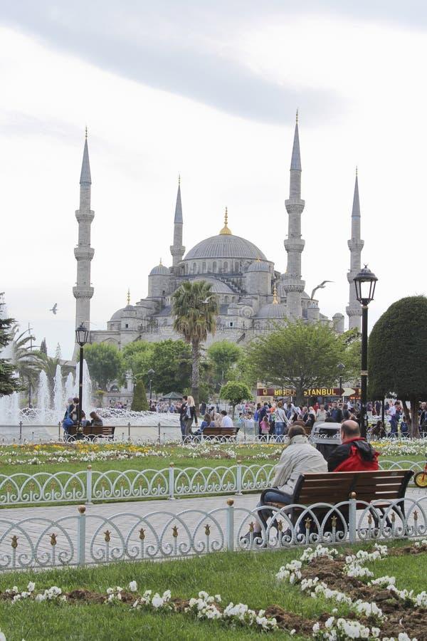 Μουσουλμανικό τέμενος του Ahmed σουλτάνων της Ιστανμπούλ στοκ εικόνες