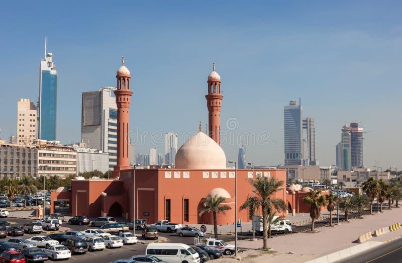 Μουσουλμανικό τέμενος Al Mailam Bader στην πόλη του Κουβέιτ στοκ εικόνα με δικαίωμα ελεύθερης χρήσης
