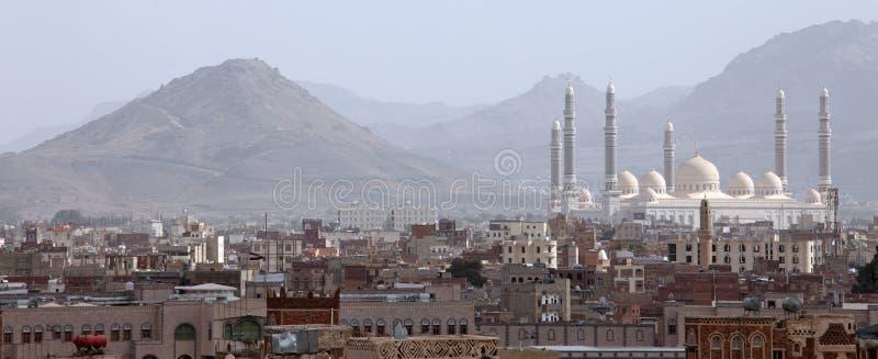 Μουσουλμανικό τέμενος Al Saleh σε Sanaa, Υεμένη στοκ φωτογραφία με δικαίωμα ελεύθερης χρήσης