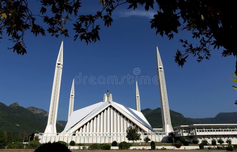 Μουσουλμανικό τέμενος Faisal, Ισλαμαμπάντ στοκ φωτογραφία με δικαίωμα ελεύθερης χρήσης
