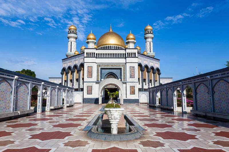 Μουσουλμανικό τέμενος Hassanil Bolkiah Jame'asr στο Μπρουνέι στοκ φωτογραφία με δικαίωμα ελεύθερης χρήσης