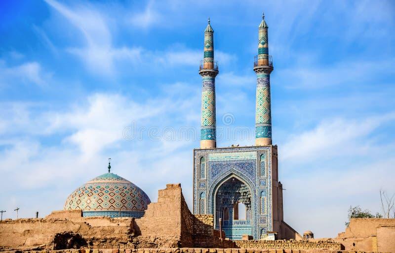 Μουσουλμανικό τέμενος Jame Yazd στο Ιράν στοκ εικόνες