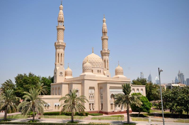 Μουσουλμανικό τέμενος Jumeirah στο Ντουμπάι στοκ φωτογραφίες