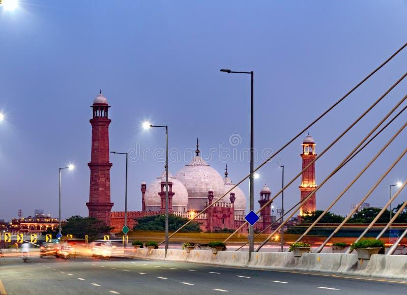 Μουσουλμανικό τέμενος Lahore Πακιστάν Badshahi στοκ εικόνες