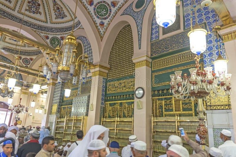 Μουσουλμανικό τέμενος Nabawi στοκ φωτογραφίες με δικαίωμα ελεύθερης χρήσης