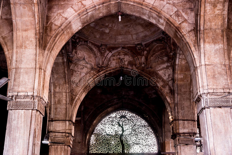 Μουσουλμανικό τέμενος Saiyyed Sidi, Ahmadabad στοκ φωτογραφία με δικαίωμα ελεύθερης χρήσης