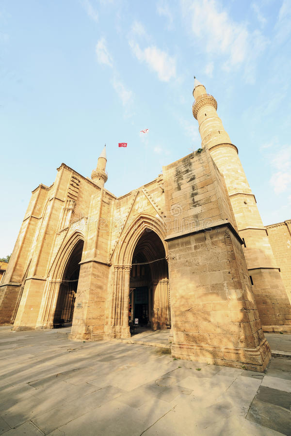 Μουσουλμανικό τέμενος Selimiye, προηγούμενη εκκλησία Αγίου Sofia, Λευκωσία, Κύπρος στοκ εικόνες