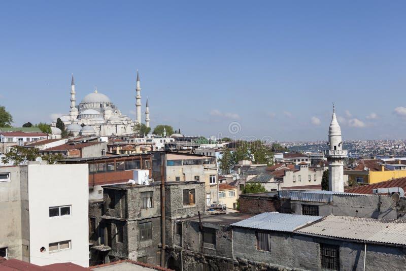Μουσουλμανικό τέμενος Suleymaniye Κωνσταντινούπολη Τουρκία στοκ φωτογραφία με δικαίωμα ελεύθερης χρήσης