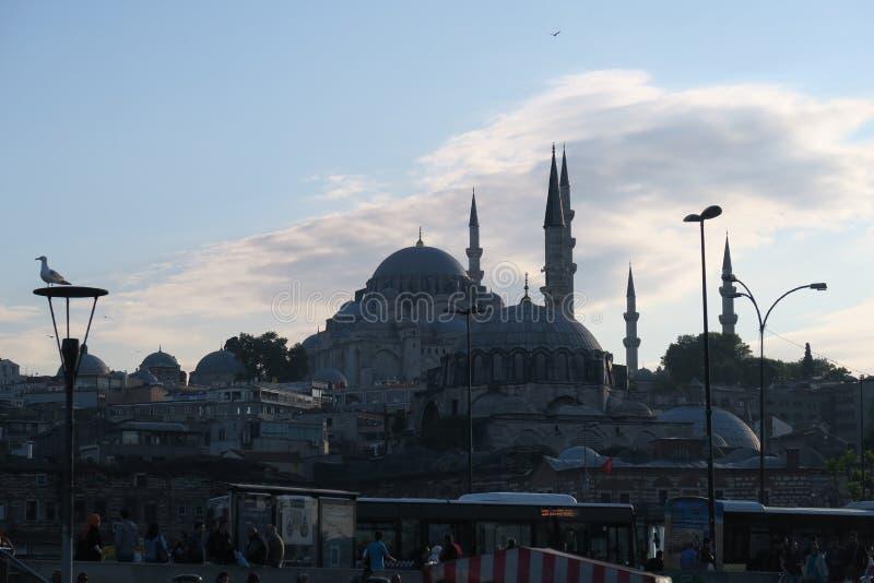 Μουσουλμανικό τέμενος Suleymaniye όπως βλέπει από το χρυσό κέρατο στη Ιστανμπούλ, Τουρκία στοκ εικόνες με δικαίωμα ελεύθερης χρήσης