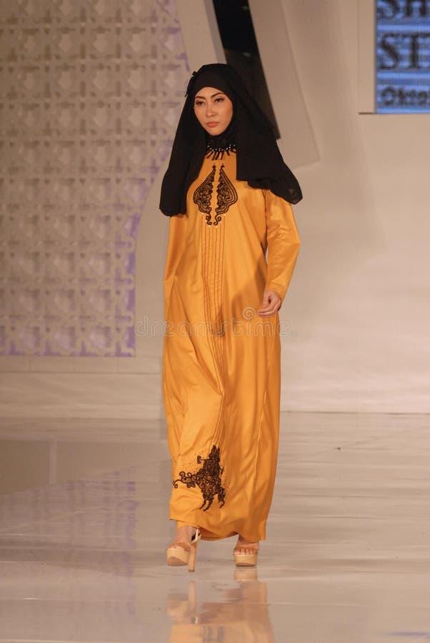 Μουσουλμανικό φεστιβάλ 2014 μόδας στοκ εικόνες