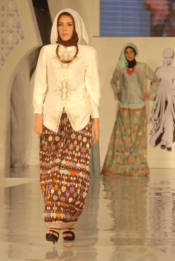 Μουσουλμανικό φεστιβάλ 2014 μόδας στοκ φωτογραφίες με δικαίωμα ελεύθερης χρήσης