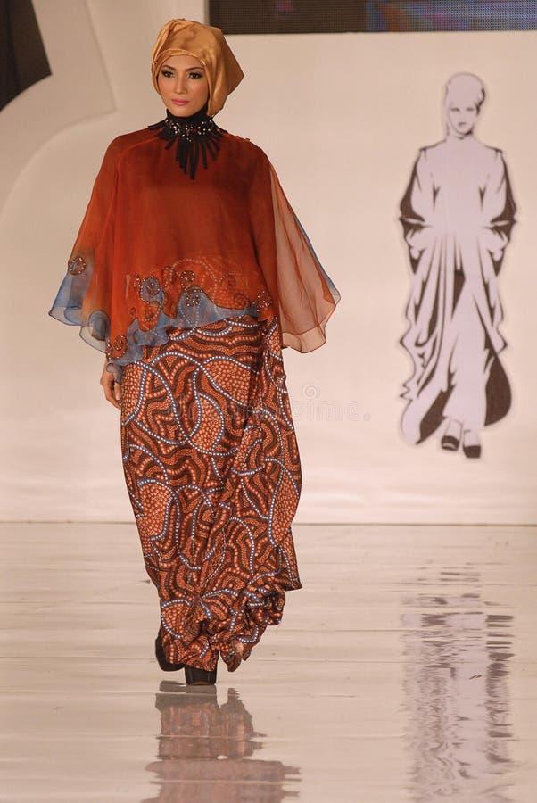 Μουσουλμανικό φεστιβάλ 2014 μόδας στοκ εικόνες με δικαίωμα ελεύθερης χρήσης
