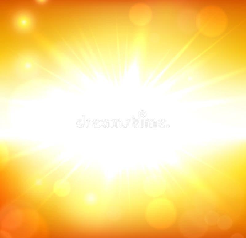Μουτζουρωμένο πορτοκαλί υπόβαθρο ουρανού θερινής άποψης ελεύθερη απεικόνιση δικαιώματος