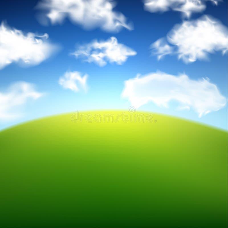 Μουτζουρωμένο υπόβαθρο τομέων θερινής άποψης διανυσματική απεικόνιση