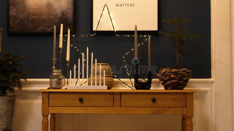 Μουτζουρωμένο υπόβαθρο Χριστουγέννων στοκ εικόνες