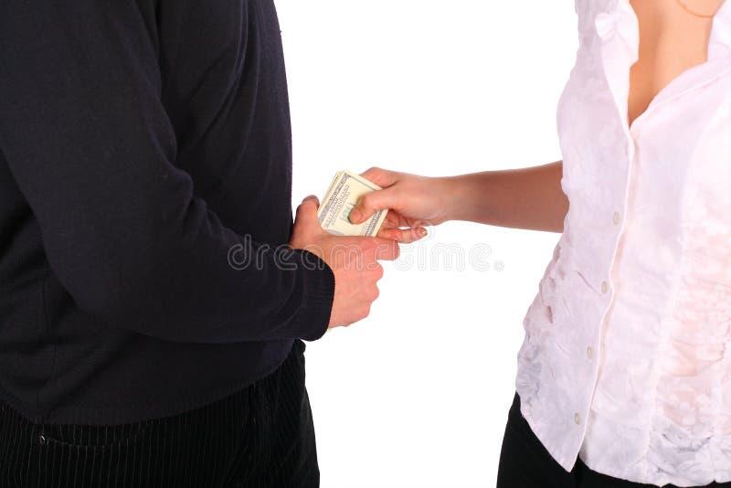 μου δώστε τα χρήματα στοκ εικόνα