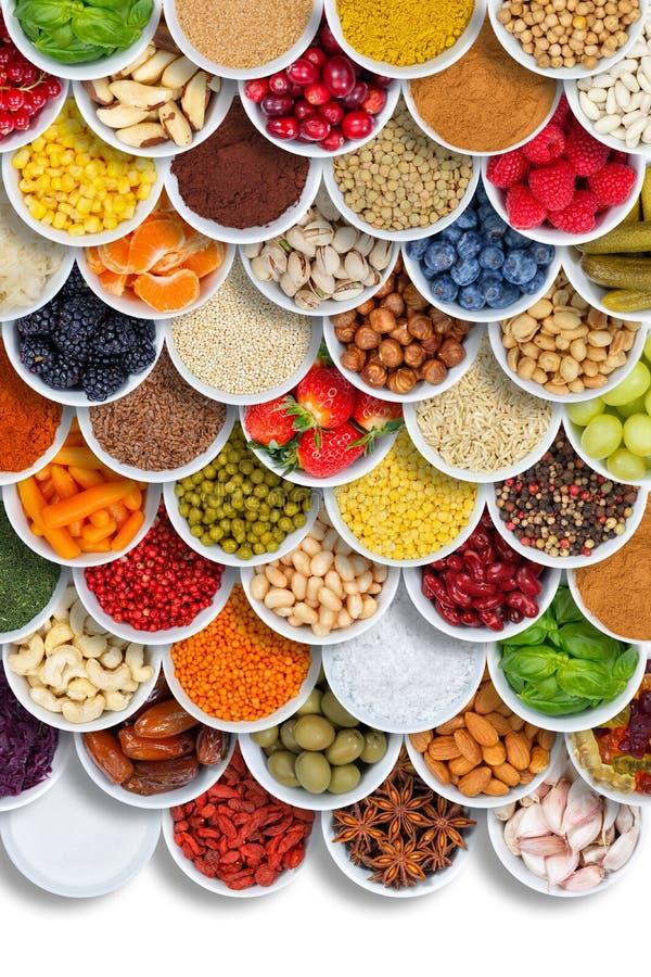 Μούρα σχήματος πορτρέτου συστατικών καρυκευμάτων τροφίμων φρούτων και λαχανικών άνωθεν στοκ εικόνες