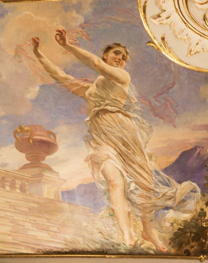 Μούσα του χορού Terpsichore στοκ εικόνα