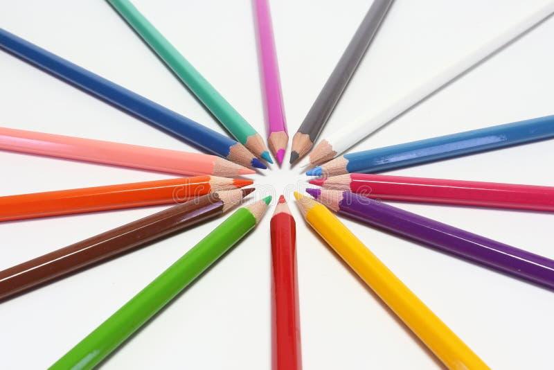 Μολύβια χρωμάτων στοκ φωτογραφίες