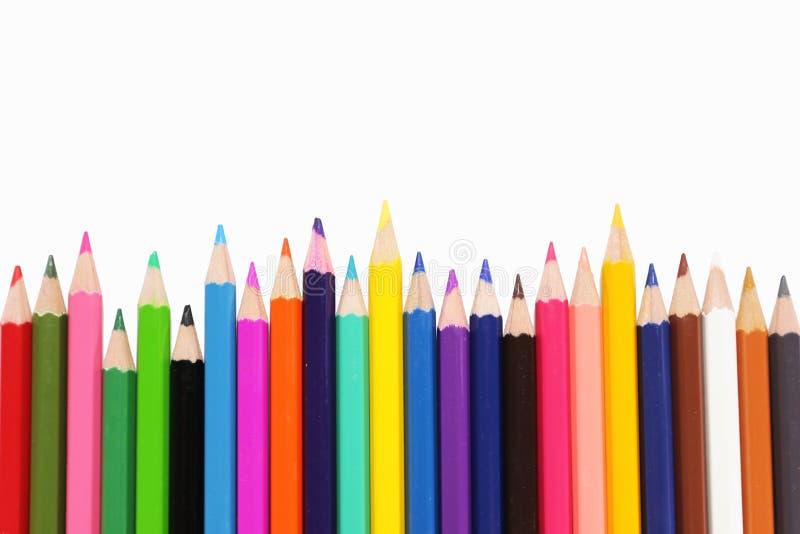 Μολύβια χρωμάτων στοκ φωτογραφία με δικαίωμα ελεύθερης χρήσης